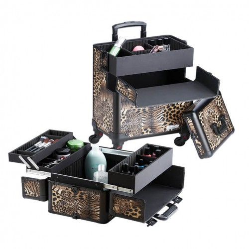 Maletín Trolley Leopardo 4 Cuerpos Eurostil