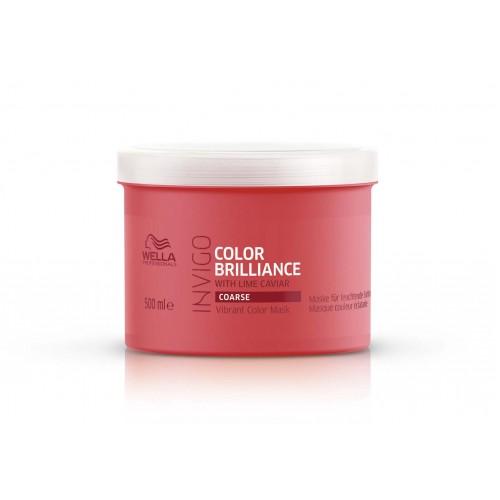 Mascarilla Color Brilliance para cabellos Gruesos Invigo 500ml Wella