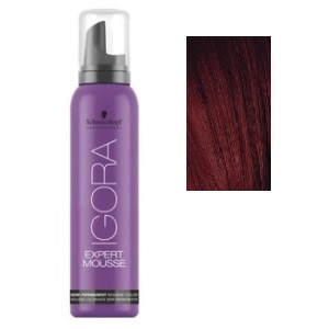 Color semipermanente Igora Mousse 5-88 Castaño claro rojizo intenso Schwarzkopf