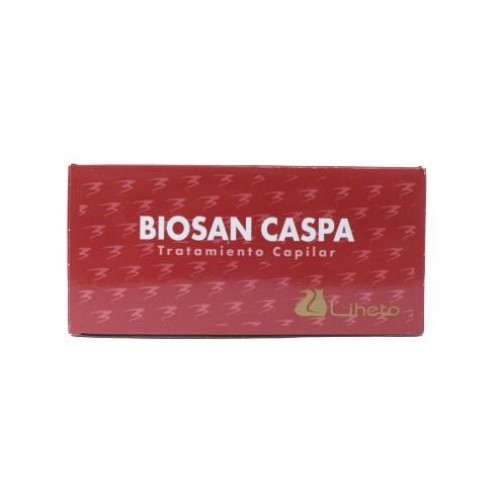 Caja Biosan Anticaspa 8 ampollas 10ml Liheto