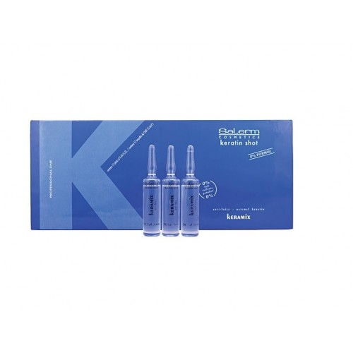 Caja 12 ampollas Keratin Shot Keramix 13ml Salerm