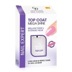 Tratamiento Top Coat Mega Shine Nail Expert 11ml Golden Rose