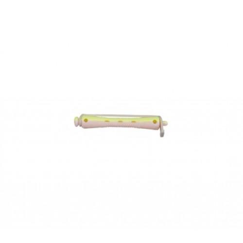 Bigudie Corto 12 unidades Bicolor Amarillo-Rosa Giubra