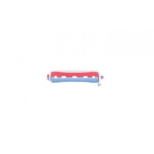 Bigudie Corto 12 unidades Bicolor Rojo-Azul Giubra