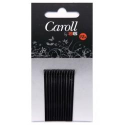 Carton 12 Clips Negros Caroll Asuer