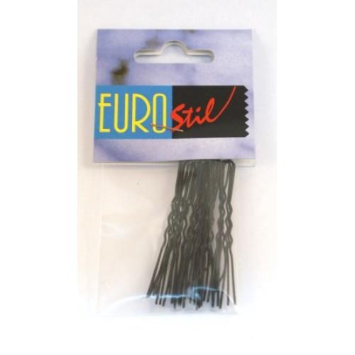 Horquilla Moño 20 unidades Invisible Negro Eurostil