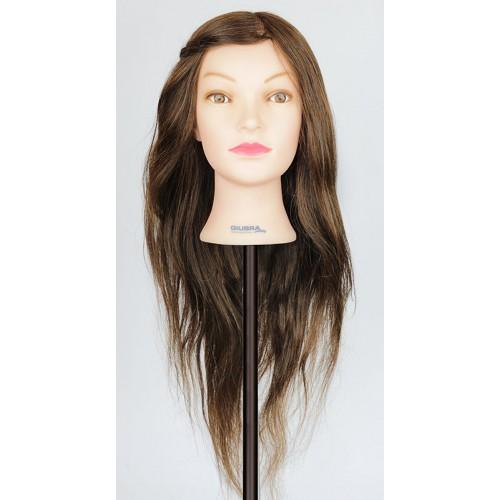 Maniquí 60-65cm 100% Cabello Natural