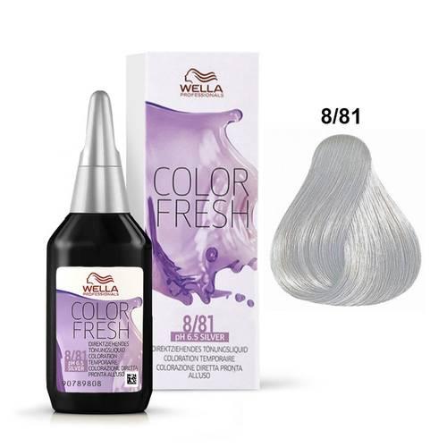 Tinte Semipermanente Color Fresh 8/81 Rubio Claro Perla Ceniza 75ml Wella