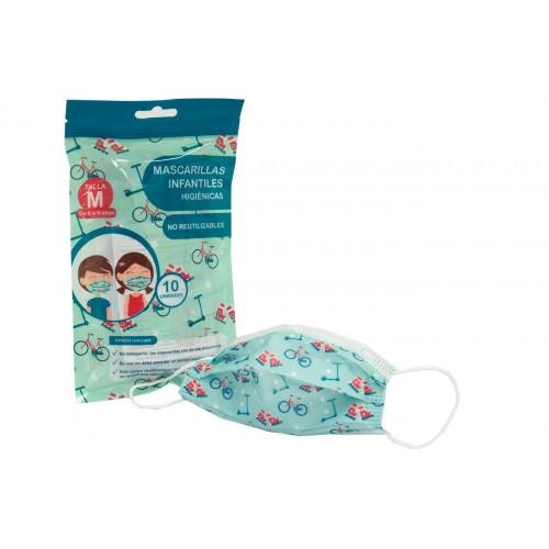Mascarilla Infantil 10uds Higienicas